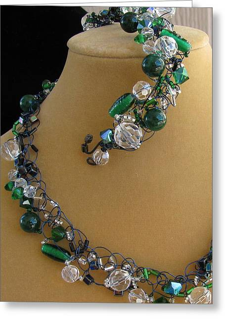 Emerald Jewelry Greeting Cards - A Touch Of the Irish Greeting Card by Annette Tomek