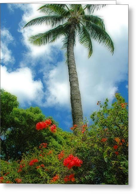 A Touch Of The Tropics Greeting Card by Lynn Bauer