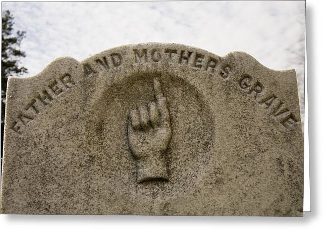Immanuel Greeting Cards - A Touching Marker In The Old Graveyard Greeting Card by Stephen St. John
