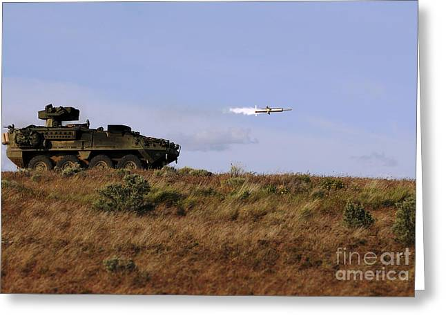 A Tow Missile Is Launched From An Greeting Card by Stocktrek Images