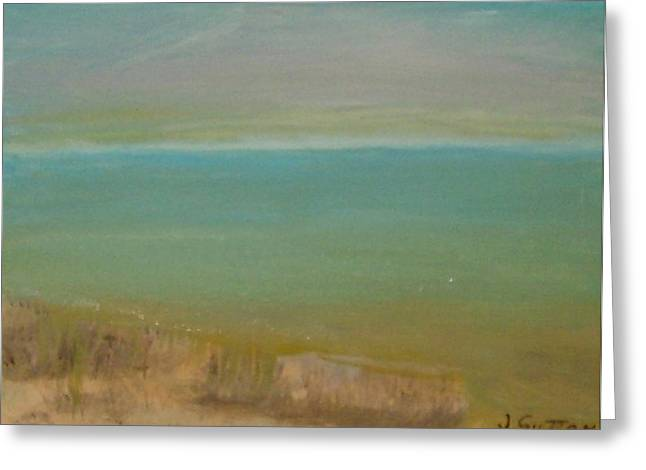 Sutton Paintings Greeting Cards - A Tranquil Sea Greeting Card by James Sutton