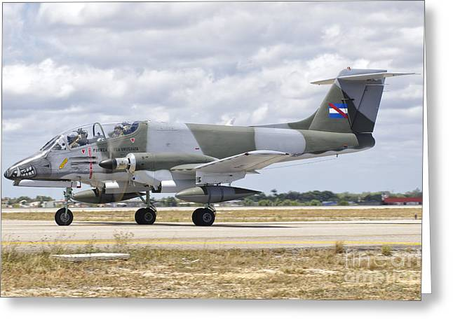 Taxiing Greeting Cards - A Uruguayan Air Force Ia-58 Pucara Greeting Card by Giovanni Colla