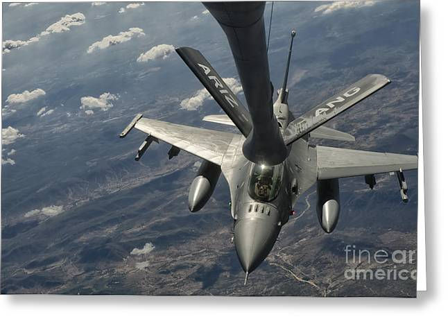 A U.s. Air Force F-16c Block 50 Greeting Card by Giovanni Colla