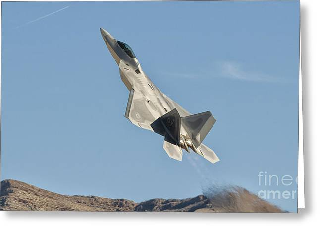Stocktrek Images - Greeting Cards - A U.s. Air Force F-22 Raptor Takes Greeting Card by Giovanni Colla