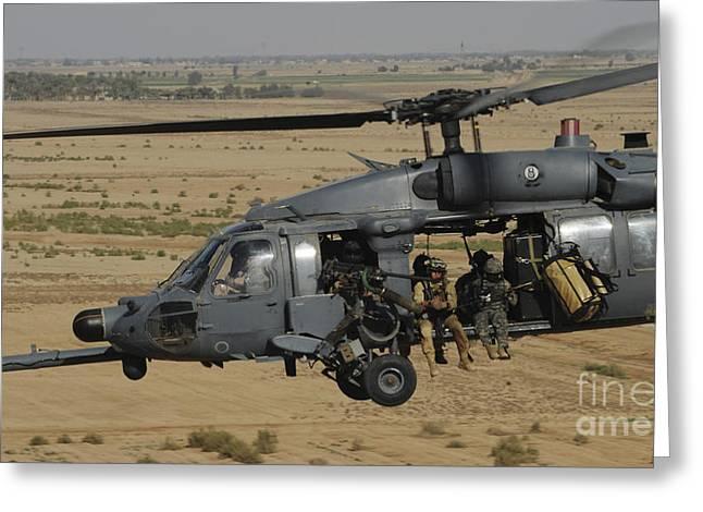 A U.s. Air Force Hh-60 Pavehawk Flies Greeting Card by Stocktrek Images