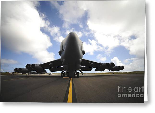 Guam Greeting Cards - A U.s. Air Force Maintenance Crew Greeting Card by Stocktrek Images