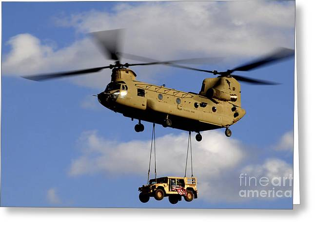 Rotorcraft Greeting Cards - A U.s. Army Ch-47 Chinook Helicopter Greeting Card by Stocktrek Images