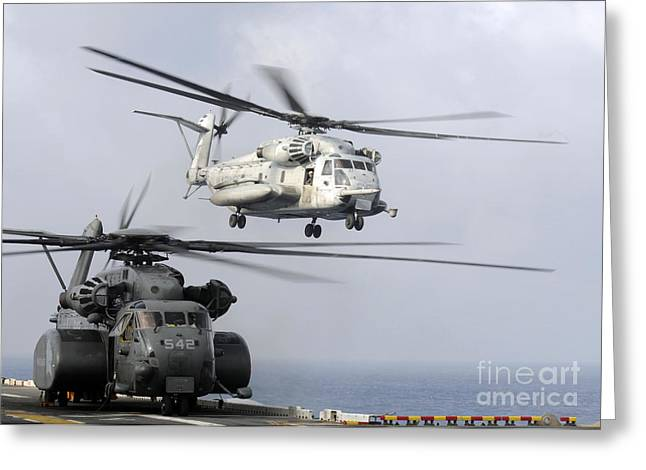 A U.s. Marine Corps Ch-53e Sea Stallion Greeting Card by Stocktrek Images