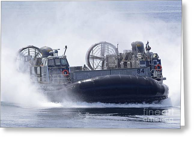 A U.s. Marine Corps Landing Craft Air Greeting Card by Stocktrek Images