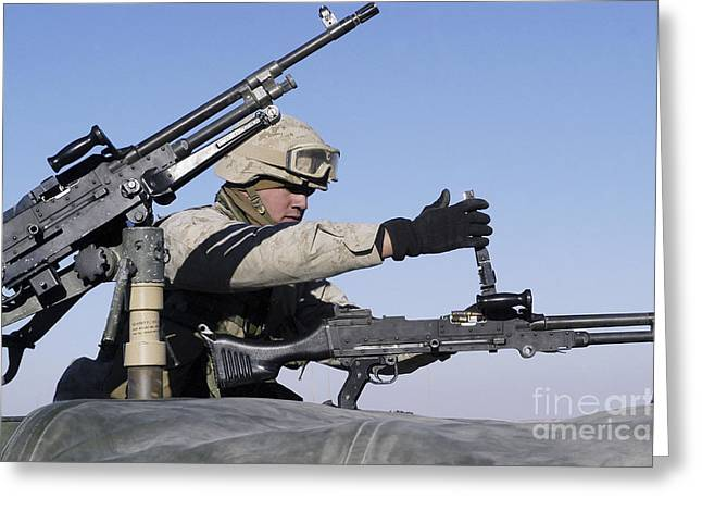 7.62mm Greeting Cards - A U.s. Marine Corps Troop Loads Greeting Card by Stocktrek Images