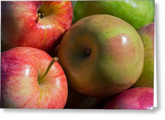 Harvest Art Greeting Cards - A Variety Of Apples Greeting Card by Heidi Smith