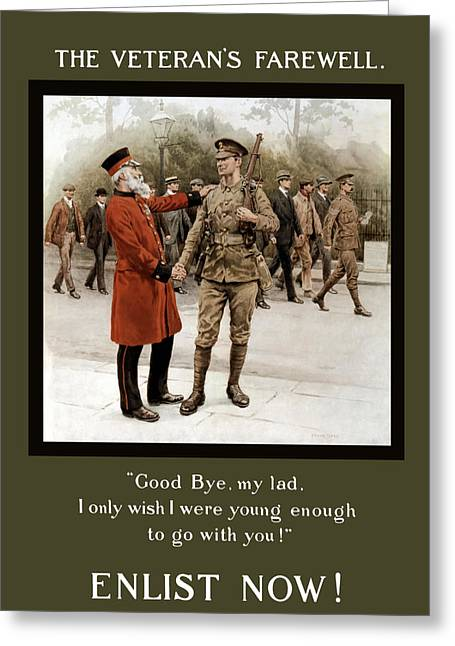 Farewell Greeting Cards - A Veterans Farewell Greeting Card by War Is Hell Store