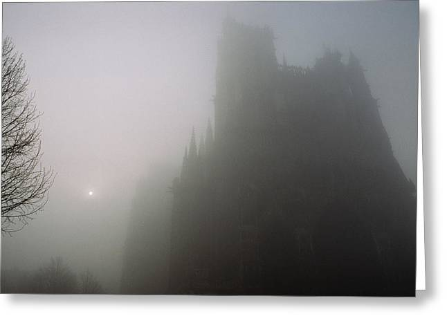 Art Of Building Greeting Cards - A View In The Morning Mist Greeting Card by James L. Stanfield
