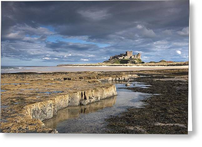 Design Pics - Greeting Cards - A View Of Bamburgh Castle Bamburgh Greeting Card by John Short