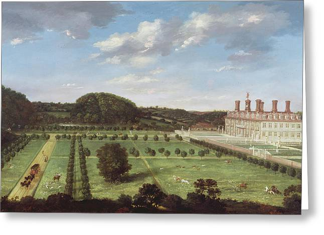 Park Scene Greeting Cards - A View of Bayhall - Pembury Greeting Card by Jan Siberechts