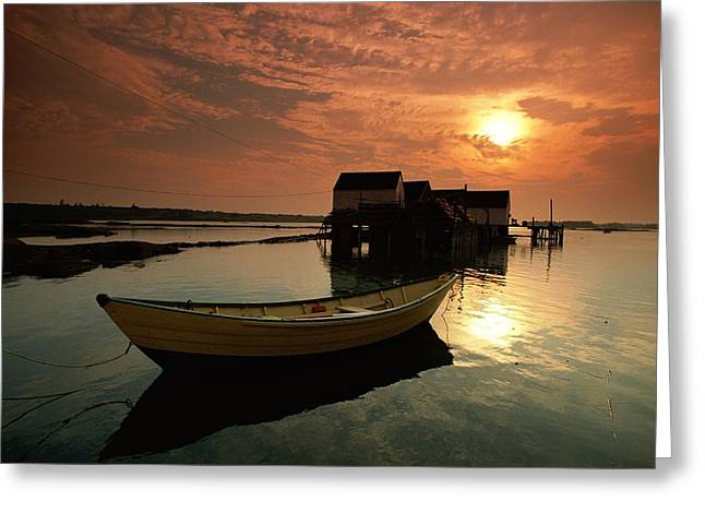Nova Scotia Photographers Greeting Cards - A View Of Blue Rocks - A Fishing Greeting Card by James P. Blair