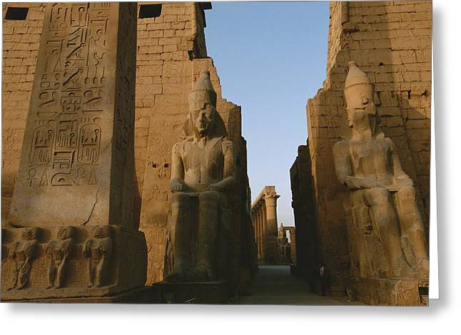 African Heritage Greeting Cards - A View Of Luxor Temple Greeting Card by Kenneth Garrett