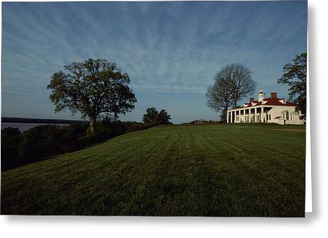 Mount Vernon Greeting Cards - A View Of Mount Vernon, The Home Greeting Card by Medford Taylor