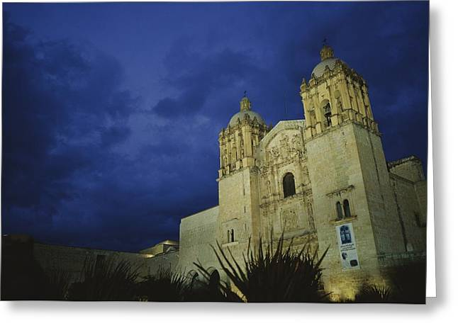 Art Of Building Greeting Cards - A View Of Oaxacas Santo Domingo Church Greeting Card by Raul Touzon
