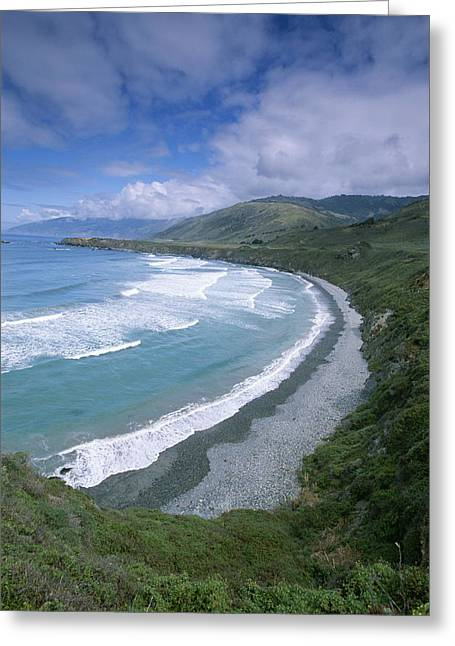 A View Of Sand Dollar Beach And The Big Greeting Card by Rich Reid