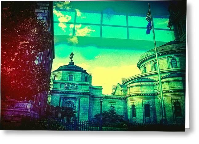 Minnesota Photo Greeting Cards - a View of St Paul Minnesota Greeting Card by Susan Stone