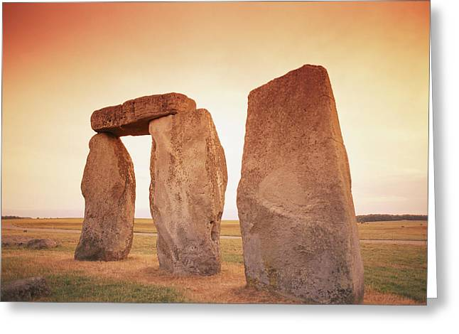 Monolith Greeting Cards - A View Of Stonehenge In The Early Greeting Card by Richard Nowitz