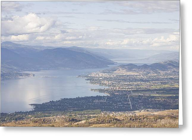 British Columbia Greeting Cards - A View Of The City Of Kelowna Greeting Card by Taylor S. Kennedy