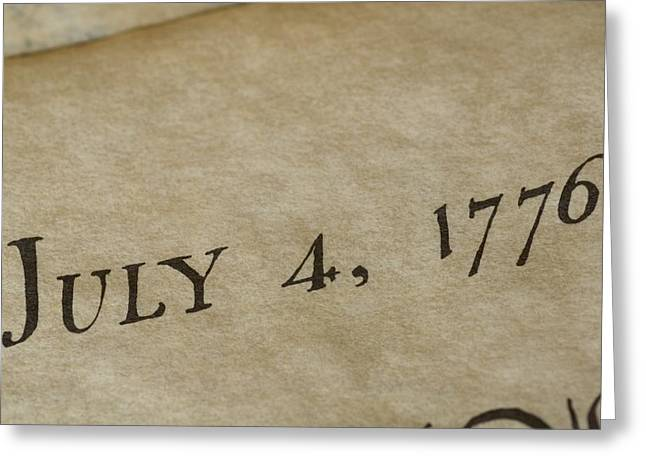 Governmental Greeting Cards - A View Of The Declaration Greeting Card by Taylor S. Kennedy