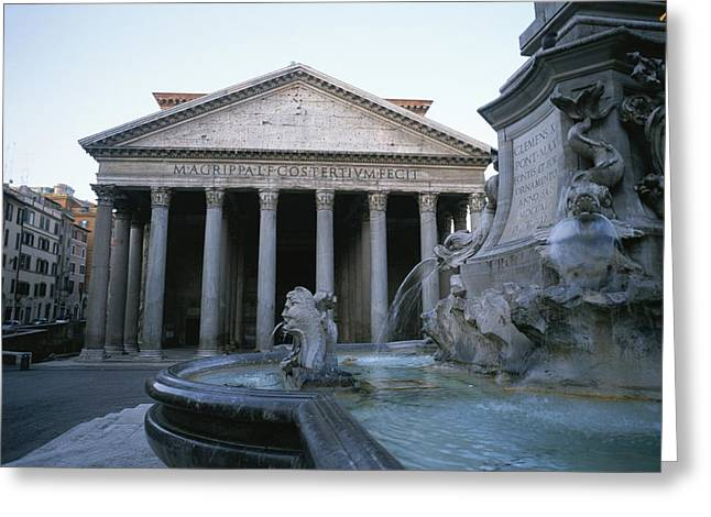 Art Of Building Greeting Cards - A View Of The Pantheon In Rome Greeting Card by Taylor S. Kennedy