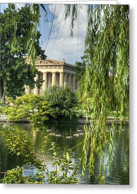 A View Of The Parthenon 16 Greeting Card by Douglas Barnett