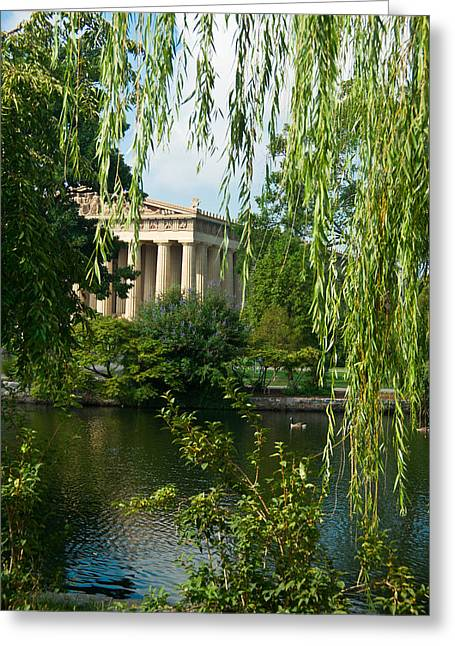 A View Of The Parthenon 7 Greeting Card by Douglas Barnett