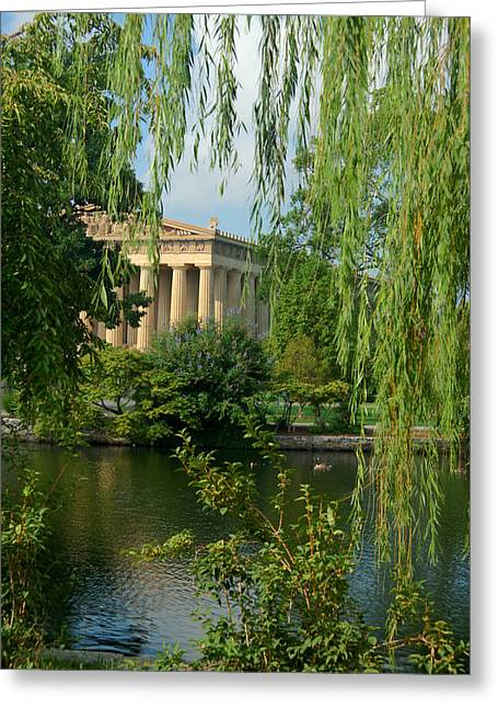 Willow Lake Greeting Cards - A View of the Parthenon 8 Greeting Card by Douglas Barnett