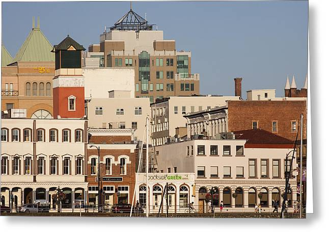 A View Of The Skyline Of Victoria Greeting Card by Taylor S. Kennedy
