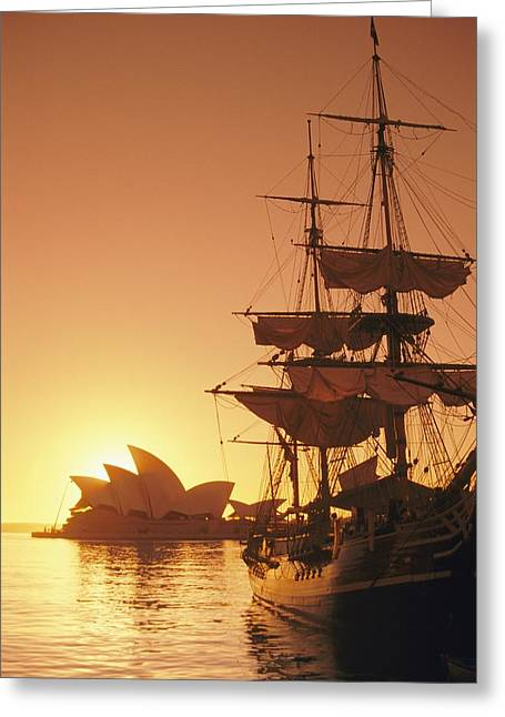 Darling Harbour Greeting Cards - A View Of The Sydney Opera House Greeting Card by Richard Nowitz