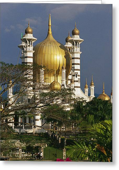 Art Of Building Greeting Cards - A View Of The Ubudiah Mosque Greeting Card by Steve Raymer