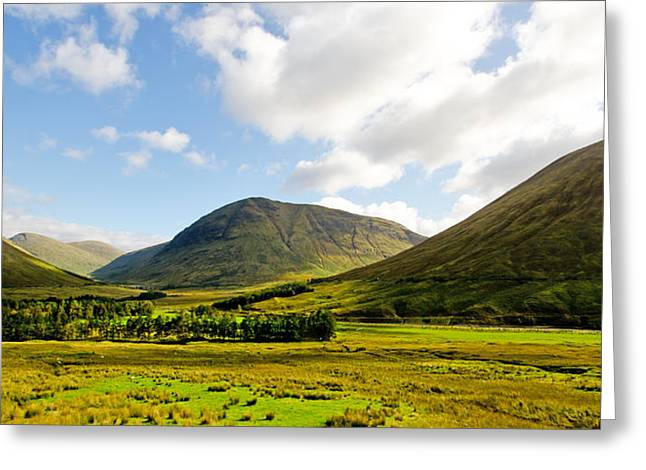 Rannoch Moor Greeting Cards - A view over Rannoch Moor Greeting Card by Chris Thaxter