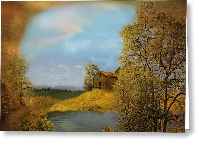 Pacific Northwest Digital Art Greeting Cards - A view to remember Greeting Card by Jeff Burgess