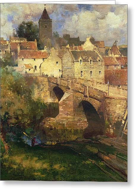 A Village In East Linton Haddington Greeting Card by James Paterson