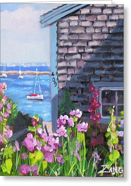 New England Ocean Greeting Cards - A Visit to P Town Jr Greeting Card by Laura Lee Zanghetti