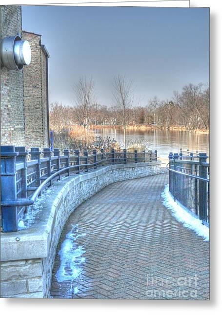 Fox River Greeting Cards - A walk along the Fox Greeting Card by David Bearden
