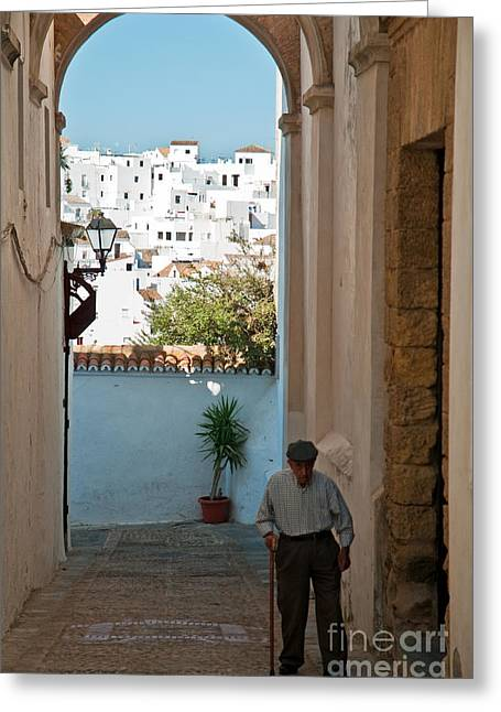 East Asian Ethnicity Greeting Cards - A walk in Spain Greeting Card by Jim Chamberlain