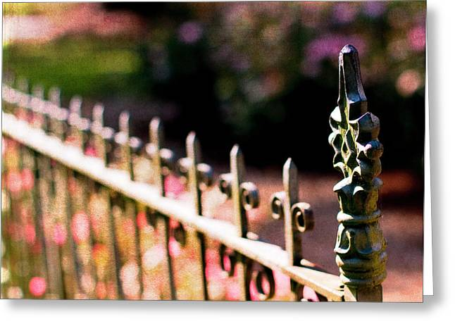 Gate Greeting Cards - A Walk in the Garden Greeting Card by Rebecca Cozart