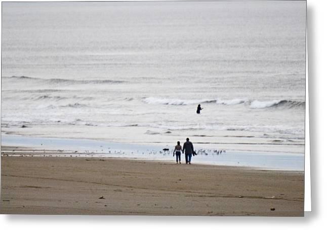 Manzanita Greeting Cards - A walk on the beach Greeting Card by Craig Perry-Ollila