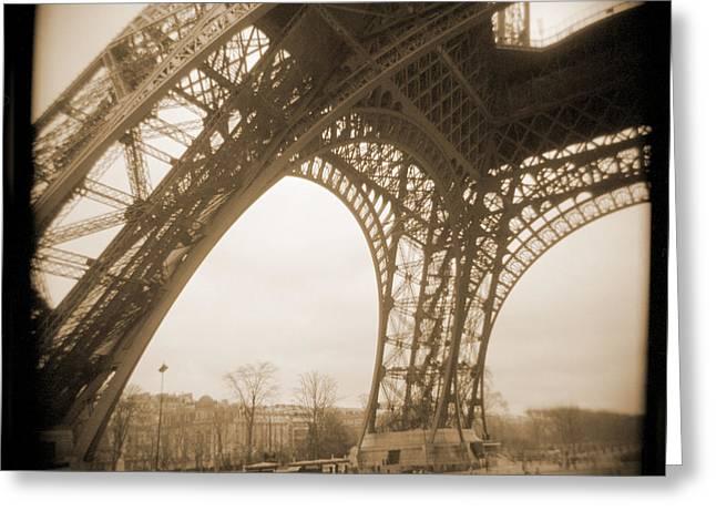 Vintage Eiffel Tower Greeting Cards - A Walk Through Paris 13 Greeting Card by Mike McGlothlen