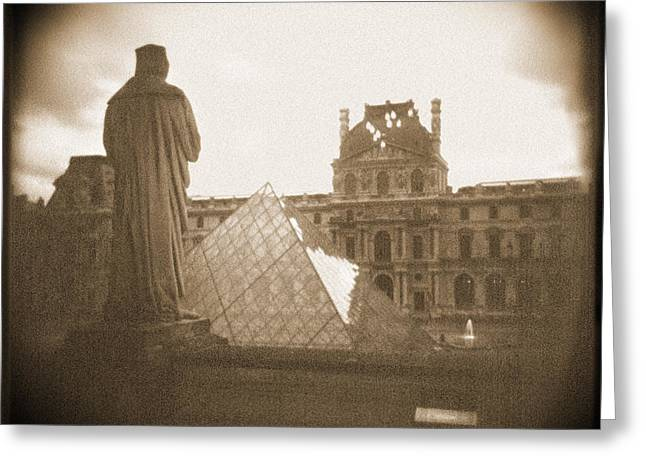 Louvre Greeting Cards - A Walk Through Paris 16 Greeting Card by Mike McGlothlen