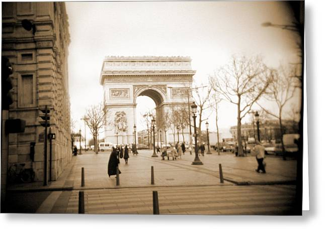 Street Lamps Greeting Cards - A Walk Through Paris 3 Greeting Card by Mike McGlothlen