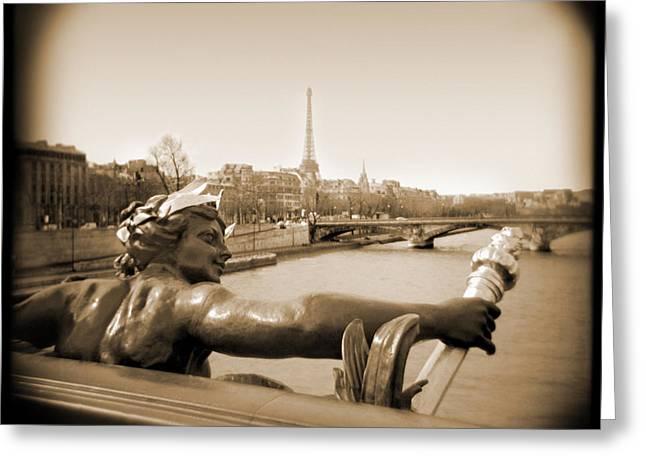 A Walk Through Paris 7 Greeting Card by Mike McGlothlen