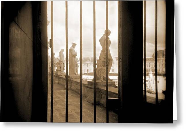 French Door Digital Art Greeting Cards - A Walk Through Paris 9 Greeting Card by Mike McGlothlen