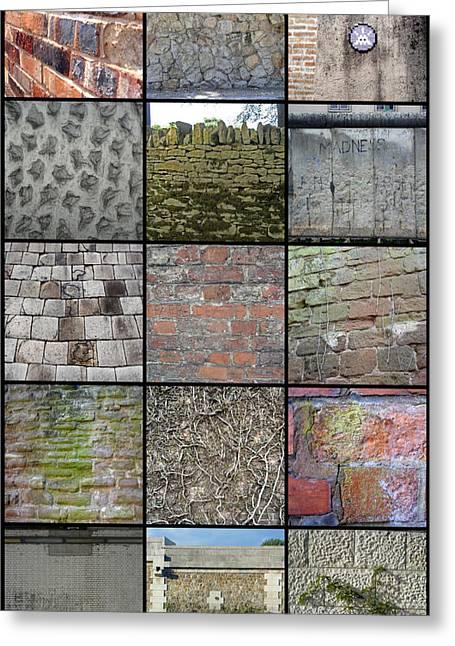 Roberto Alamino Greeting Cards - A Wall of Walls Greeting Card by Roberto Alamino