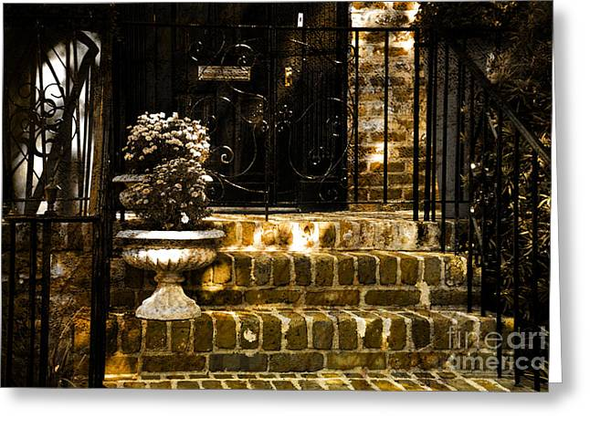 Balusters Greeting Cards - A Warm Welcome Greeting Card by Susanne Van Hulst